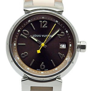 Louis Vuitton Tambour Mm Q1311 Boys Quartz Brown Dial Watch