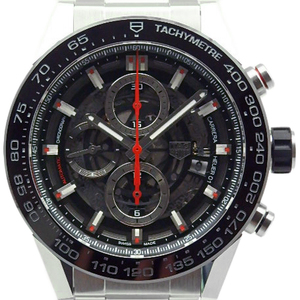 Tag Heuer Carrera Caliber 01 Chronograph Car 2 A 1 W - 0 Men's Automatic Back Scale Skeleton Dial Watch