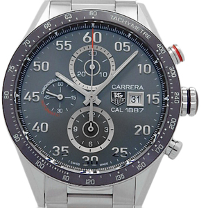 Tag Heuer Carrera Caliber 1887 Chronograph Car 2 A 11 Men's Back Scale Automatic Anthracite Gray Dial Watch