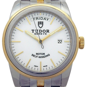 Tudor Glamor Day-date Ref. 56003 K18 Yg / Ss Combination Men's Automatic White Dial Watch