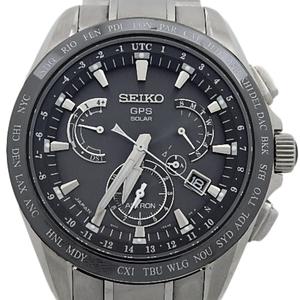 Seiko Astron Solar Gps Satellite Radio 8x Series Sbxb 045 8x53 Ti / Ce Quartz Men's Black Case Watch Wrist