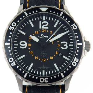 Sinn Jin Pilot Watch Lufthansa Cargo Boeing 777 Limited Edition Men's Automatic Black Letter Wrist