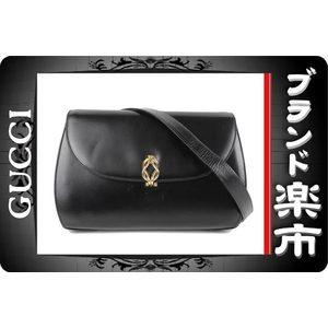 Gucci Gucci Old Leather Shoulder Bag Black 004 · 406 0398