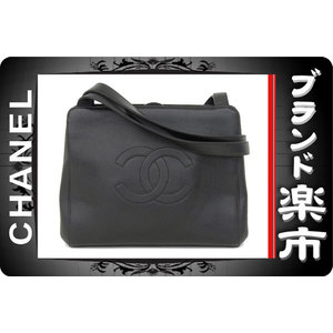 Chanel Chanel Shoulder Tote Bag Coco Mark Caviar Black 5th