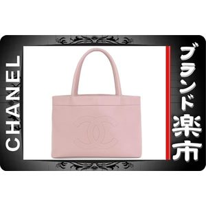 Chanel Chanel Coco Mark Tote Bag Caviar Pink A27612