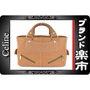 Celine Celine Boogie Bag Quilting Handbag Leather Tea G Fittings