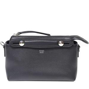 Fendi Calf Leather Visorway · Mini 2 Way Shoulder Bag 8 Bl 135 Black