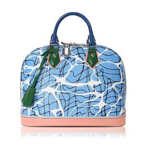 Louis Vuitton M41571 Women's Handbag Blue,Pink