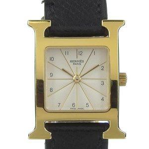 Genuine Hermes H Watch Ladies Quartz Wrist Hh 1.201