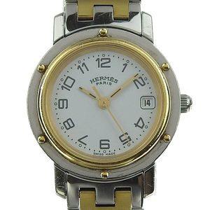 Real Hermes Clipper Ladies Quartz Wrist Watch Cl 4.220