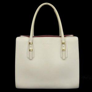 Real Salvatore Ferragamo Leather Tote Bag White
