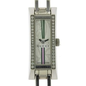 Genuine Gucci Diamond Bezel Ladies Quartz Wrist Watch 110