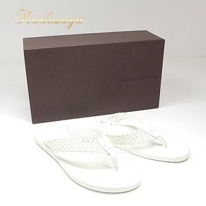 Louis Vuitton Tattoo · Line Flat Tongsuburan (White) Rubber A3yt1pgo Women's Beach Sandal As New