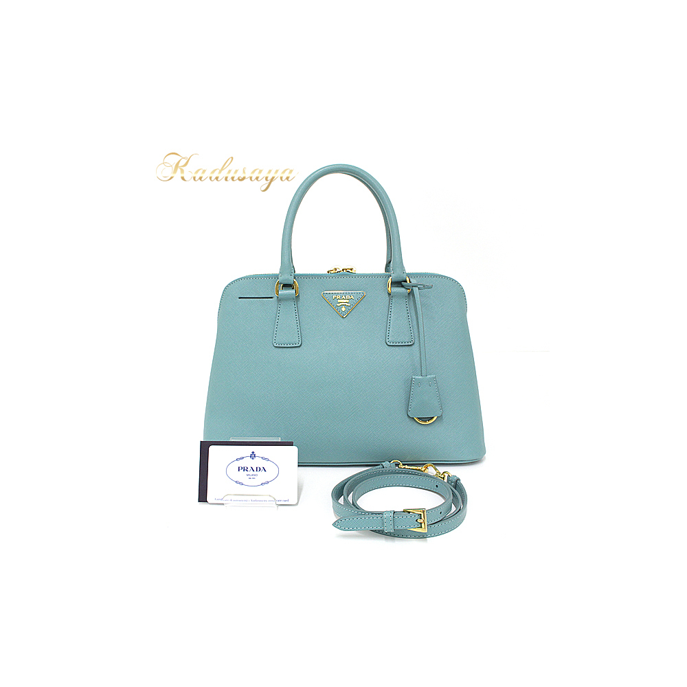 e18bb605bc Prada Promenade Back 2 Way Handbags Saffiano Leather Anice (Light Green  Type) Bl0837 Shoulder