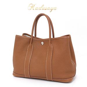 Hermes Garden Party Tpm Negonda Gold Handbag Tote Bag □ P Engraved (Made In 2012)