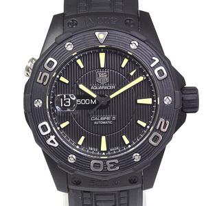 [Tag Heuer] Tag Heuer Men's Watch New Aquar Racer 500 M Caliber 5 Waj 2180. Ft 6015 Black (Black) Dial