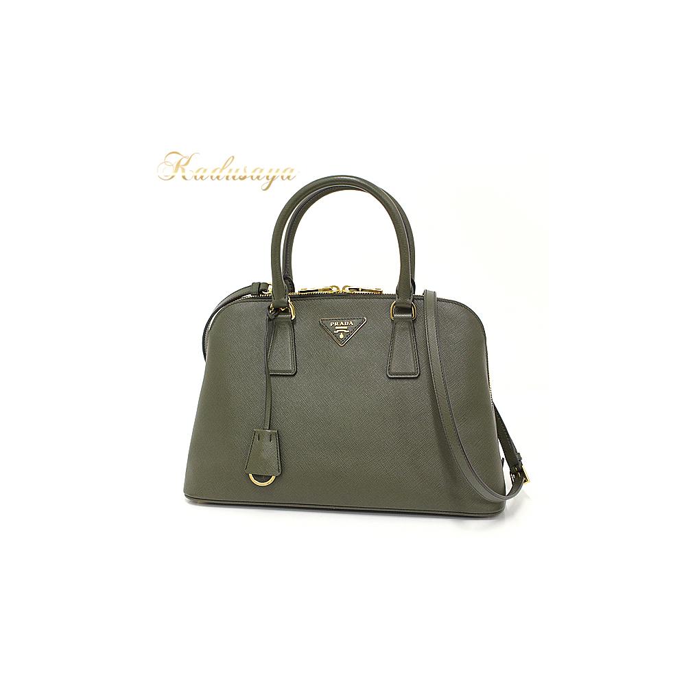 d22310dc9e93 Prada Promenade Back 2 Way Handbags Saffiano Leather Militare (Olive Green  System) Bl0837 Shoulder Bag As New