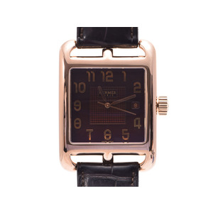 Hermes Automatic Pink Gold Men's Watch Wall Street