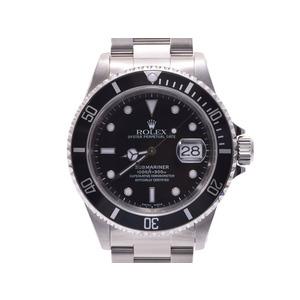 中古 ロレックス サブマリーナ16610 A番 SS 黒文字盤 ギャラ メンズ 腕時計 ROLEX