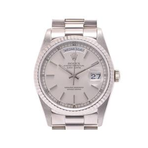 中古 ロレックス デイデイト18239 WG X番 自動巻 メンズ 腕時計 ROLEX