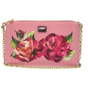 Dolce & Gabbana 2 Way Shoulder Pouch Bag Rose Leather Pink 0122