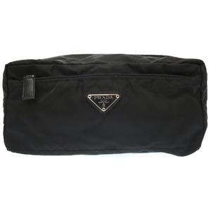 Prada Nylon Black Second Bag Clutch 0145 Men's