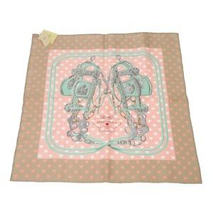 Unused Hermes Carre 45 Brides De Gala Love Heart Silk Scarf Rose Dragon 0119 Hmes Pink