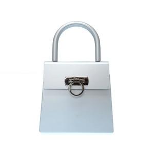 Salvatore Ferragamo Gancini Aluminum Silver Au - 21 6716 Handbag Bag 0568 Fragamo