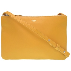 Celine Trio Yellow Leather Shoulder Bag 0186 Womens As New