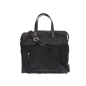 Prada Nylon Shoulder Tote Bag 2 Vg 074 Black 0247 Prada Men's