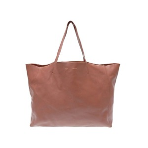 Celine Horizontal Cava Leather Brown Tote Bag 0452 Women's