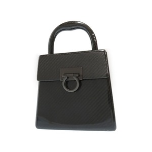 Salvatore Ferragamo Ferragamo Carbon Ganchini Handbag Do-21 9746 Black 0323 Salvatore Fragamo
