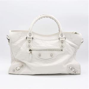 Balenciaga Giant 281770 D94JN Women's Leather Handbag White