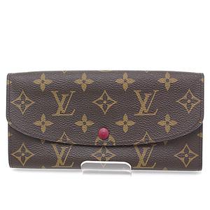 Louis Vuitton Monogram Porto Foyu Emily Folded Long Wallet M60697 Fuchs As Good New