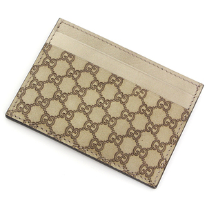 Gucci Card Case Regular Business Holder Micro Shima Gold 233166-2184 A Rank