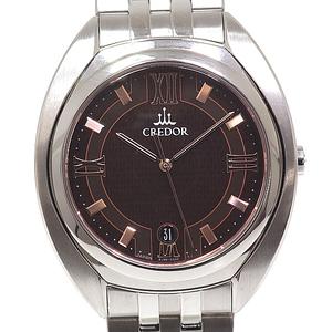 Seiko Men's Wrist Watch Credor Signino Gcaz 053 Brown Dial Quartz