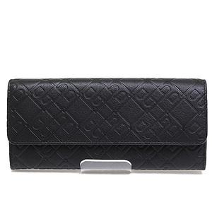 Bally Fold Wallet Bosen-lg / 20 Black Stamped Calf Leather Unused Item