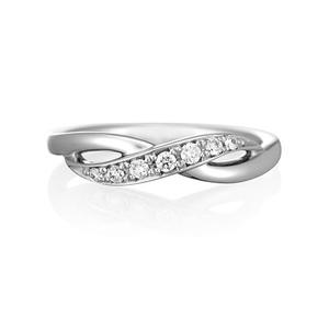 ヨンドシィ(4℃) Pt950(プラチナ) エレガント ダイヤモンド リング プラチナ ロジウムメッキ 7Pメレダイヤ 11083-314-5002