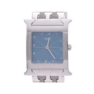 中古 エルメス ラムシスHH1.510 SS 水色文字盤 クォーツ メンズ 腕時計 HERMES◇