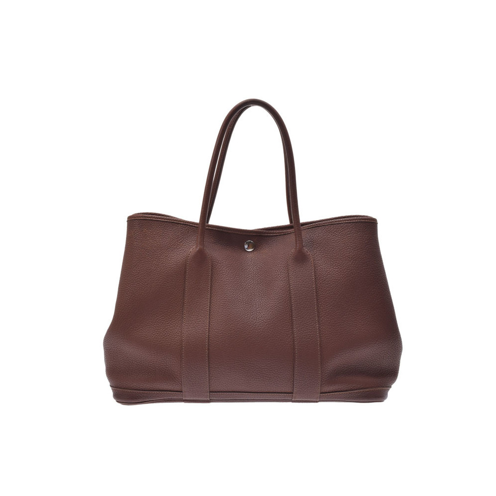 Hermes Garden Garden Party PM Women s Negonda Leather Tote Bag Brown ef901141be