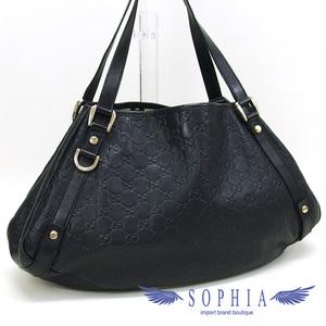 51a03257b527 Gucci Shima Tote Bag Leather Black