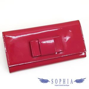 Miu Miu Miu Flap Wallet With Ribbon Dark Pink