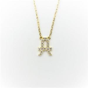 アーカー(AHKAH) K18イエローゴールド(K18YG) ダイヤモンド レディース ネックレス カラット/0.07 (イエローゴールド(YG))