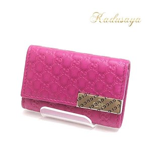 Gucci Micro Shima 6 Consecutive Key Case 268833 Magenta (Pink Type) Unused Item
