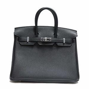 Hermes Togo Black A Engraved Handbag Ladies