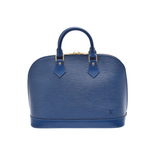 Louis Vuitton Epi M52145 Alma Women's Handbag Blue