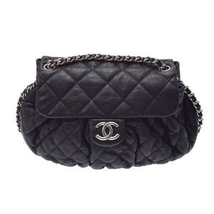 シャネル(Chanel) 中古 シャネル マトラッセ チェーンアラウンド ショルダーバッグ ヴィンテージラムスキン 黒 SV金具 CHANEL◇