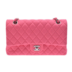 Chanel Chain Women's Jersey Shoulder Bag Pink