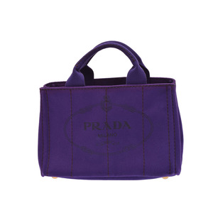 Prada Canapa B2439G Women's Canvas Handbag Purple