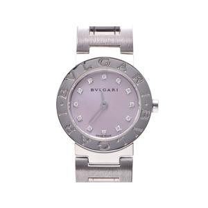中古 ブルガリ ブルガリブルガリ23 SS 新型 シェル文字盤 12Pダイヤ クオーツ レディース 腕時計 BVLGARI